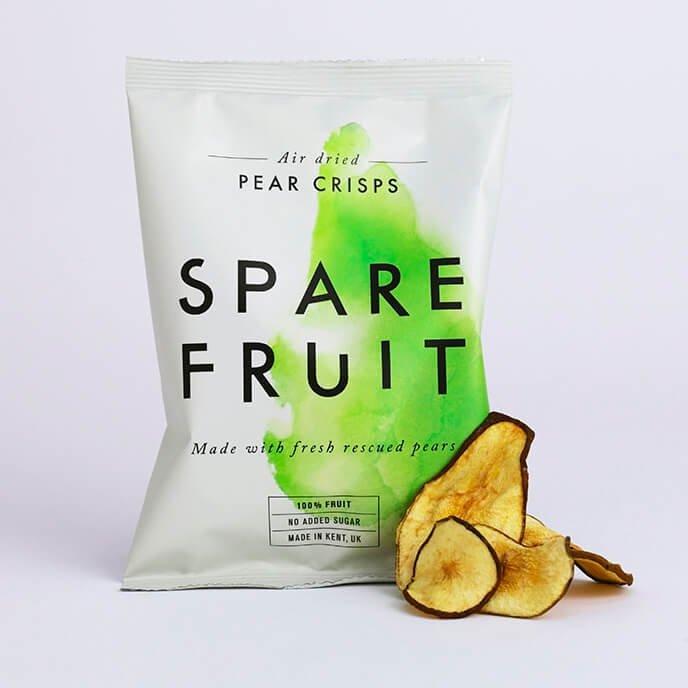 24 x Kentish Pear Fruit Crisps Snack Air-Dried & 100% Natural (24 x 20g)
