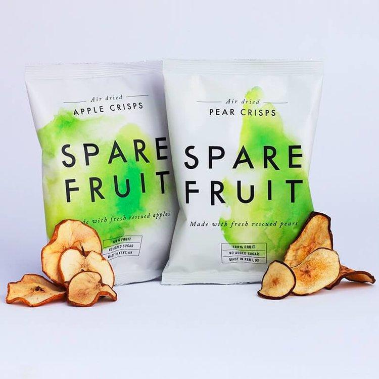 24 x Apple & Pear Kentish Fruit Crisps Snack Air-Dried & 100% Natural (24 x 20g)