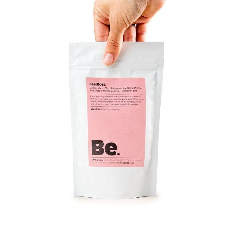 Superfood Blend 'Feel Boss' With Vegan Protein, Ashwagandha & Cacao 200g (Organic)