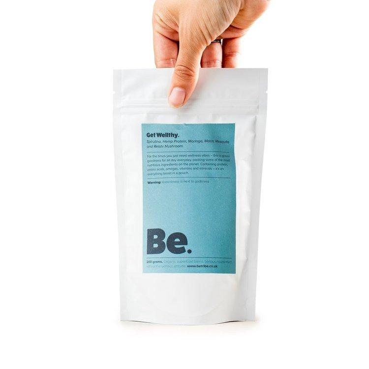 Superfood Blend 'Get Wellthy' With Spirulina, Maca & Hemp Protein 200g (Organic, Raw)