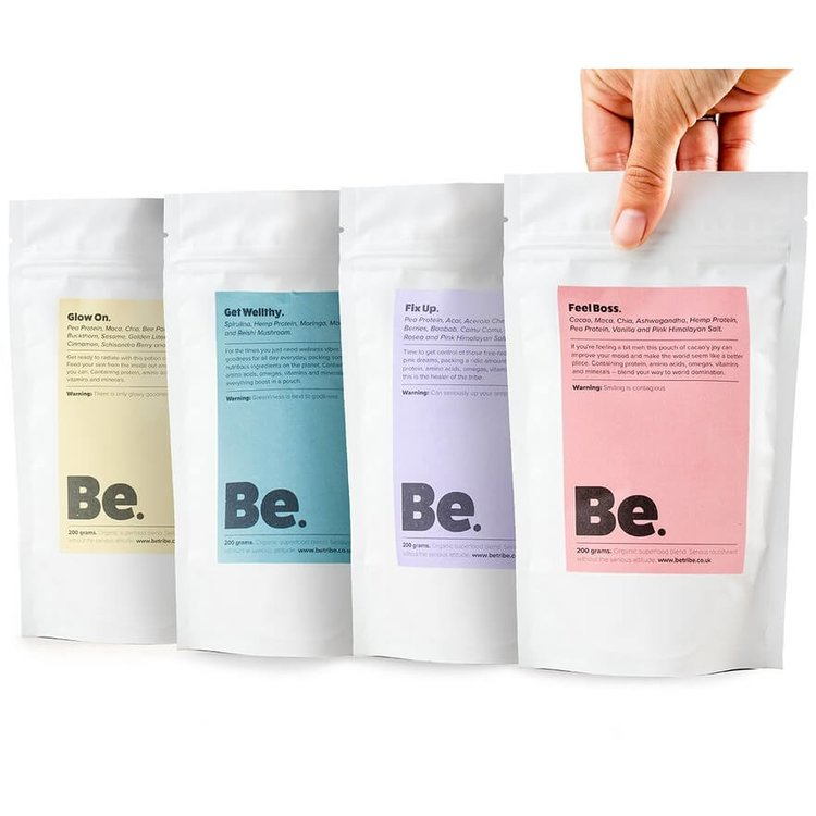 Superfood Blend Taster Set 4 Pouches With Vegan Protein (Organic & Raw)