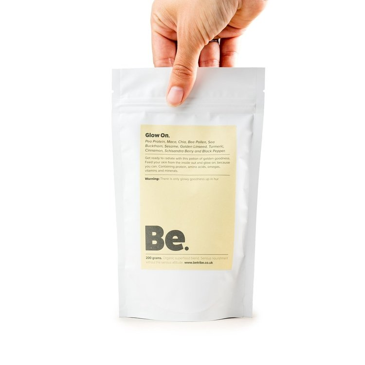 Superfood Blend 'Glow On' With Pea Protein, Maca, Chia & Bee Pollen 200g (Organic)