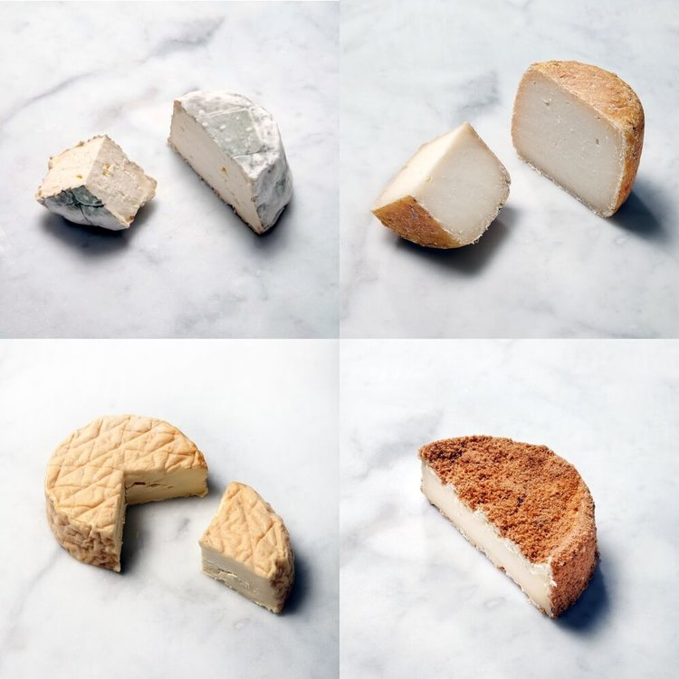 Washed Rind Premium Cheese Set Inc. Camembert, Goat's, Cider Washed & Gaugry's Epoisses Cheeses