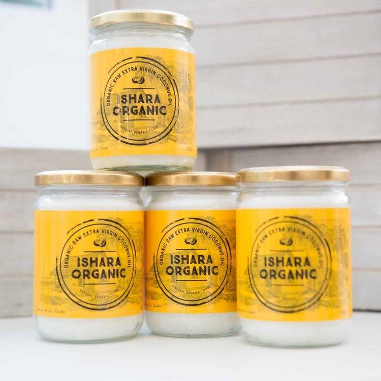 Extra Virgin Coconut Oil 4 x 500g (Cold Pressed, Raw & Organic) From Sri Lanka