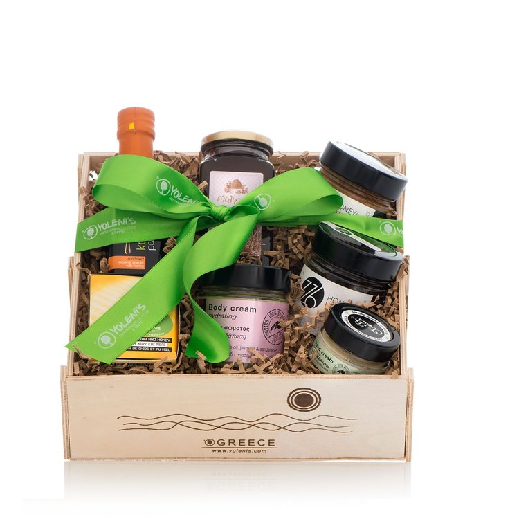 Natural Flavoured Greek Honey Healthy Gift Crate