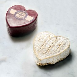 Cheese Hearts Set with Coeur de Neufchatel & Vintage Godminster (For Gift or Cheese Board)
