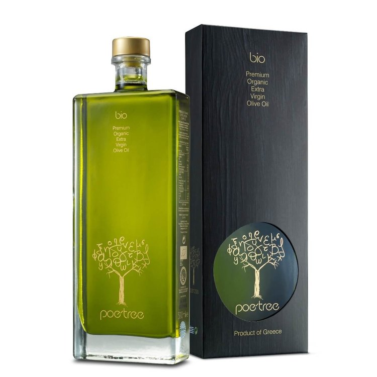Premium Extra Virgin Greek Olive Oil 'Poe-Tree' from Messinia 500ml (Organic) in Gift Box