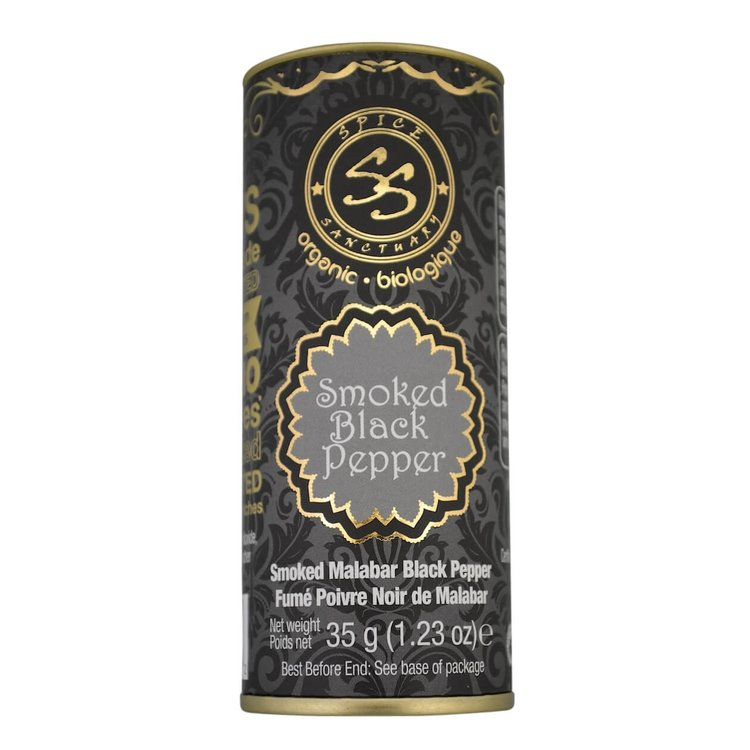 Organic Smoked Malabar Black Pepper 35g