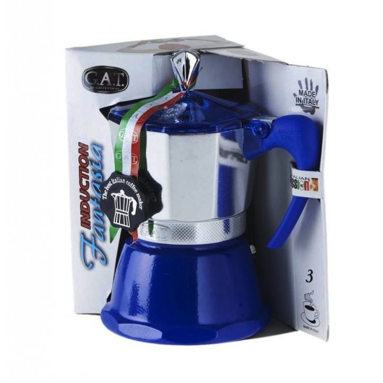 Three cup moka pot caffettiera qd16