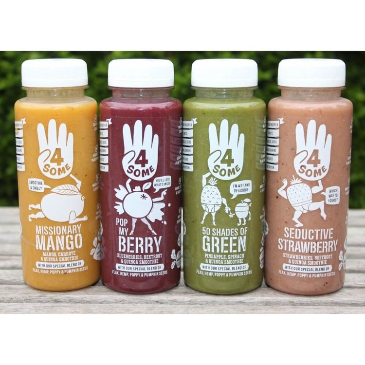 4 x Smoothies Variety Pack Inc. Green, Mango, Berries and Strawberry (With Pea Protein) 250ml