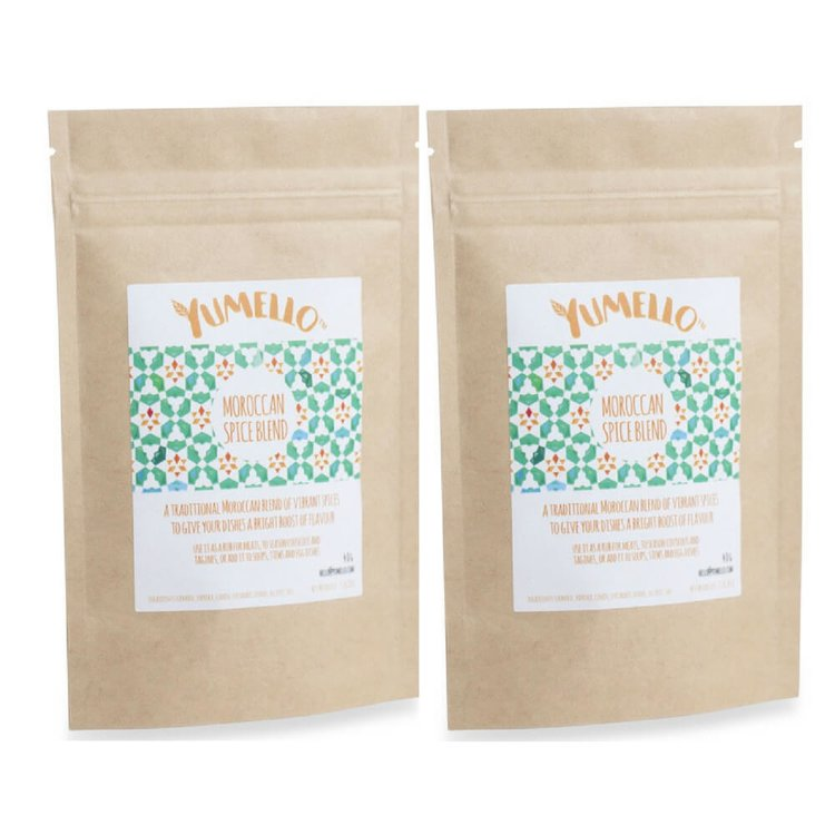 Moroccan Spice Blend Rub Set Inc. Turmeric and Paprika 2 x 40g (For Meats, Tagines & Soups)
