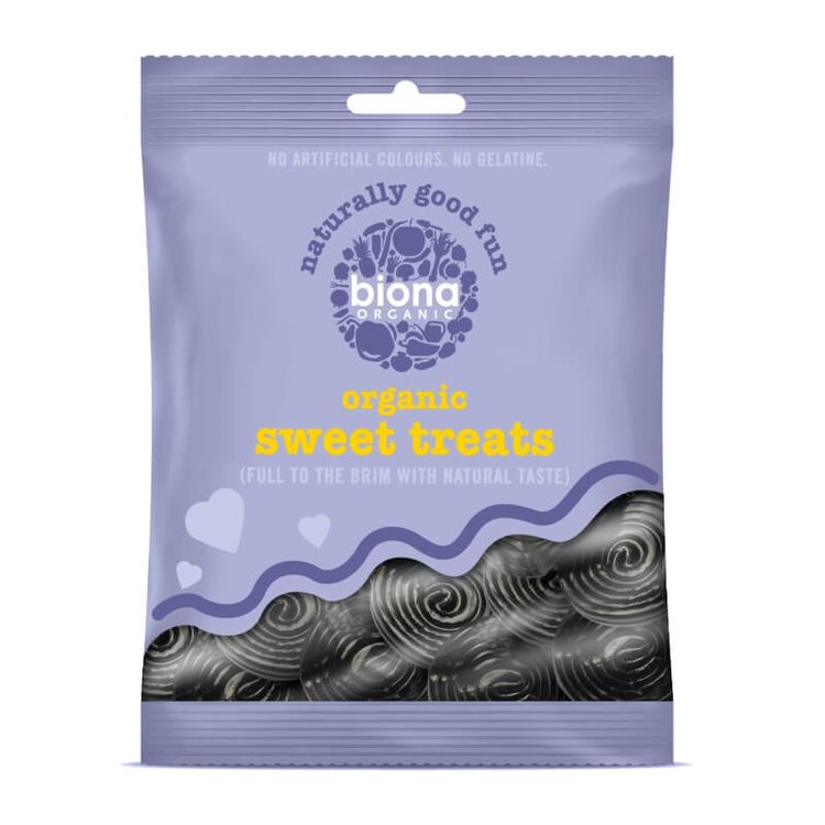 Organic Liqourice Spirals 75g
