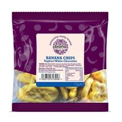 Organic Yoghurt & White Chocolate Banana Chips 70g