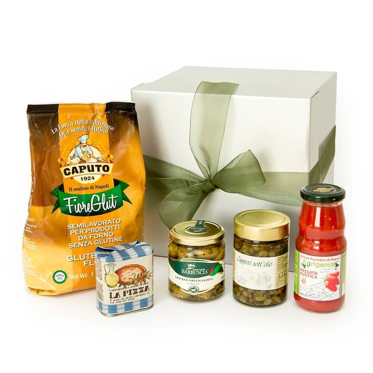 Gluten-Free Italian Pizza Making Kit Gift Hamper Inc. Caputo Flour, San Marzano Passata & Olives