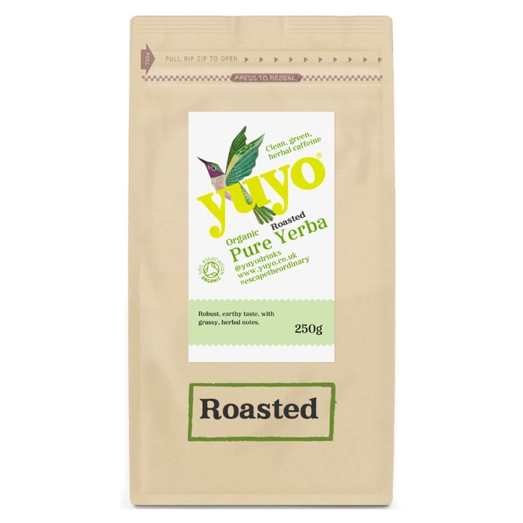 Roasted Loose Leaf Yerba Mate Tea by Yuyo 250g (Organic, Brazilian, Contains Caffeine)