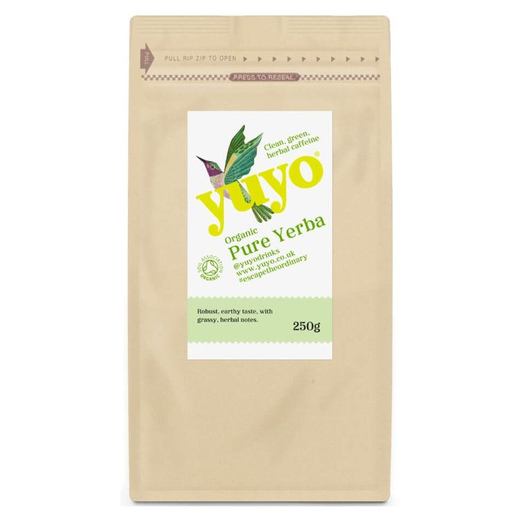 Pure Loose Leaf Yerba Mate Tea by Yuyo 250g (Organic, Brazilian, Contains Caffeine)