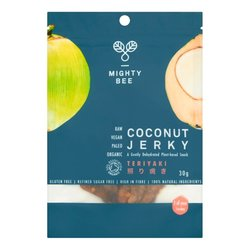 Raw Teriyaki Coconut Meat 'Jerky' 30g by Mighty Bee (Organic, Young Coconuts)