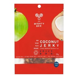 Raw Spicy BBQ Coconut Meat 'Jerky' 30g by Mighty Bee (Organic, Young Coconuts)