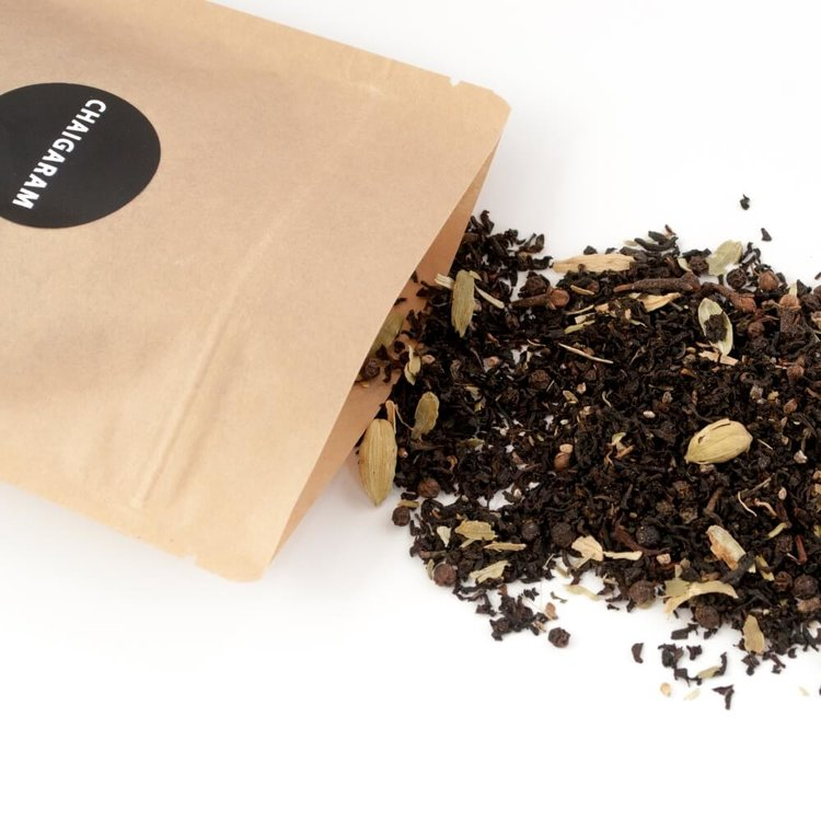 Cardamom Spice Loose Leaf Chai Tea Blend 125g (With Assam Leaves, Cardamom & Spices)