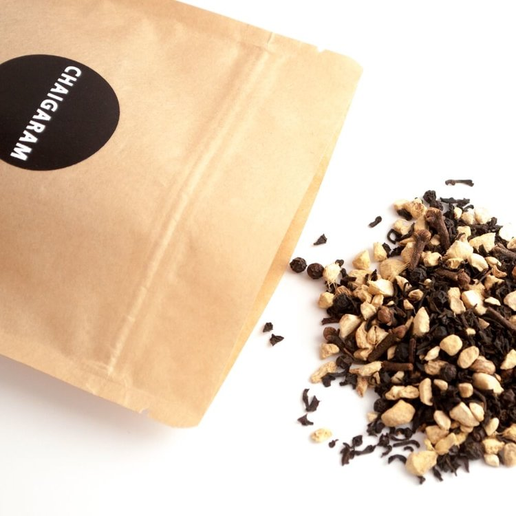 Ginger Spice Loose Leaf Chai Tea Blend 125g (With Assam Leaves, Sweet & Spicy Blend)