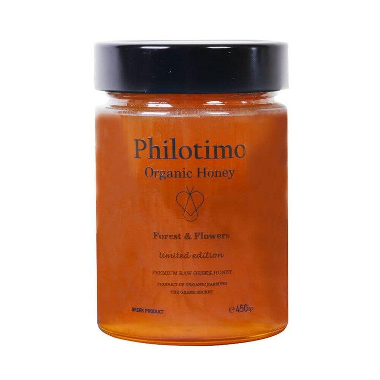 Forest & Flowers Greek Honey Premium Limited Edition 450g (Organic, Raw)