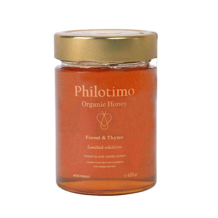 Forest & Thyme Greek Honey Premium Limited Edition 450g (Organic, Raw)
