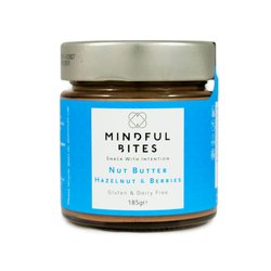 2 x Hazelnut & Berries Nut Butter (With Black Mulberry & Blueberry) Jar 185g (Sugar-Free)