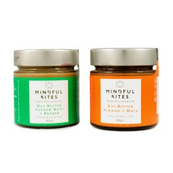 2 x Cashew & Almond Nut Butter Jars 185g (Sugar-Free)