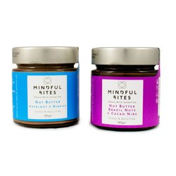 2 x Brazil Nut & Hazelnut Nut Butter Jars 185g (Sugar-Free)