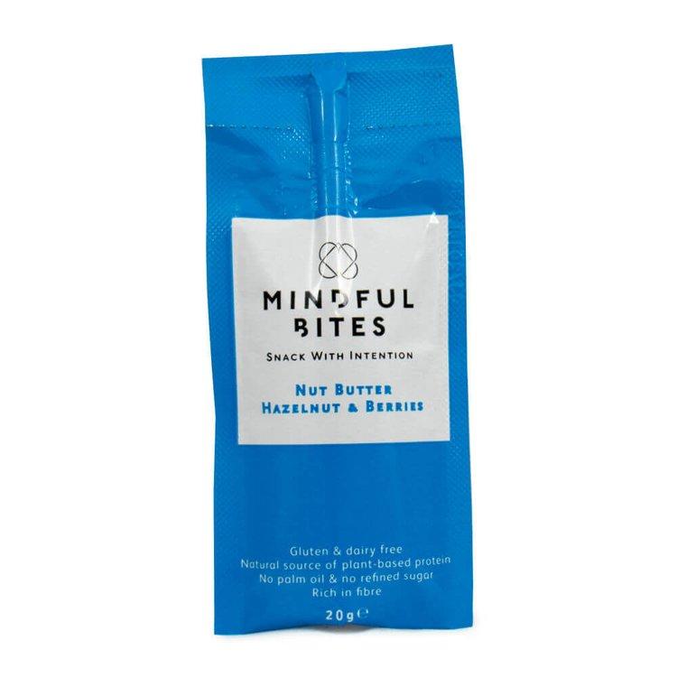 Hazelnut, Black Mulberry & Blueberry Nut Butter Snack Box 12 x 20g Sachets (Sugar-Free)