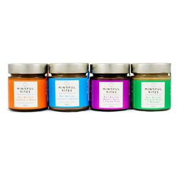 4 x Sugar-Free Nut Butters Gift Box (4 x 185g, with Almond, Hazelnut, Cashew & Brazil Nuts)