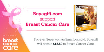 Buyagift supports Breast Cancer Care