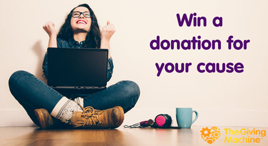 Win a donation for your cause