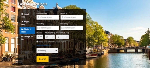 Last minute deals from Expedia