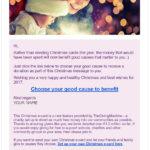 Example Christmas e-card