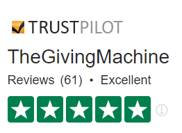 TheGivingMachine Trustpilot rating Excellent