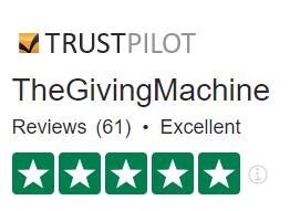TheGivingMachine Trustpilot rating Excellent