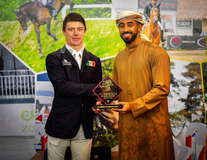 SHOW JUMPING:  Podium finish for Pender in Abu Dhabi World Cup