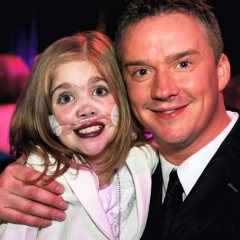 Kirsty with Russell Watson on 13th Birthday