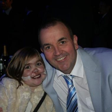 Kirsty with Phil 'The Power' Taylor