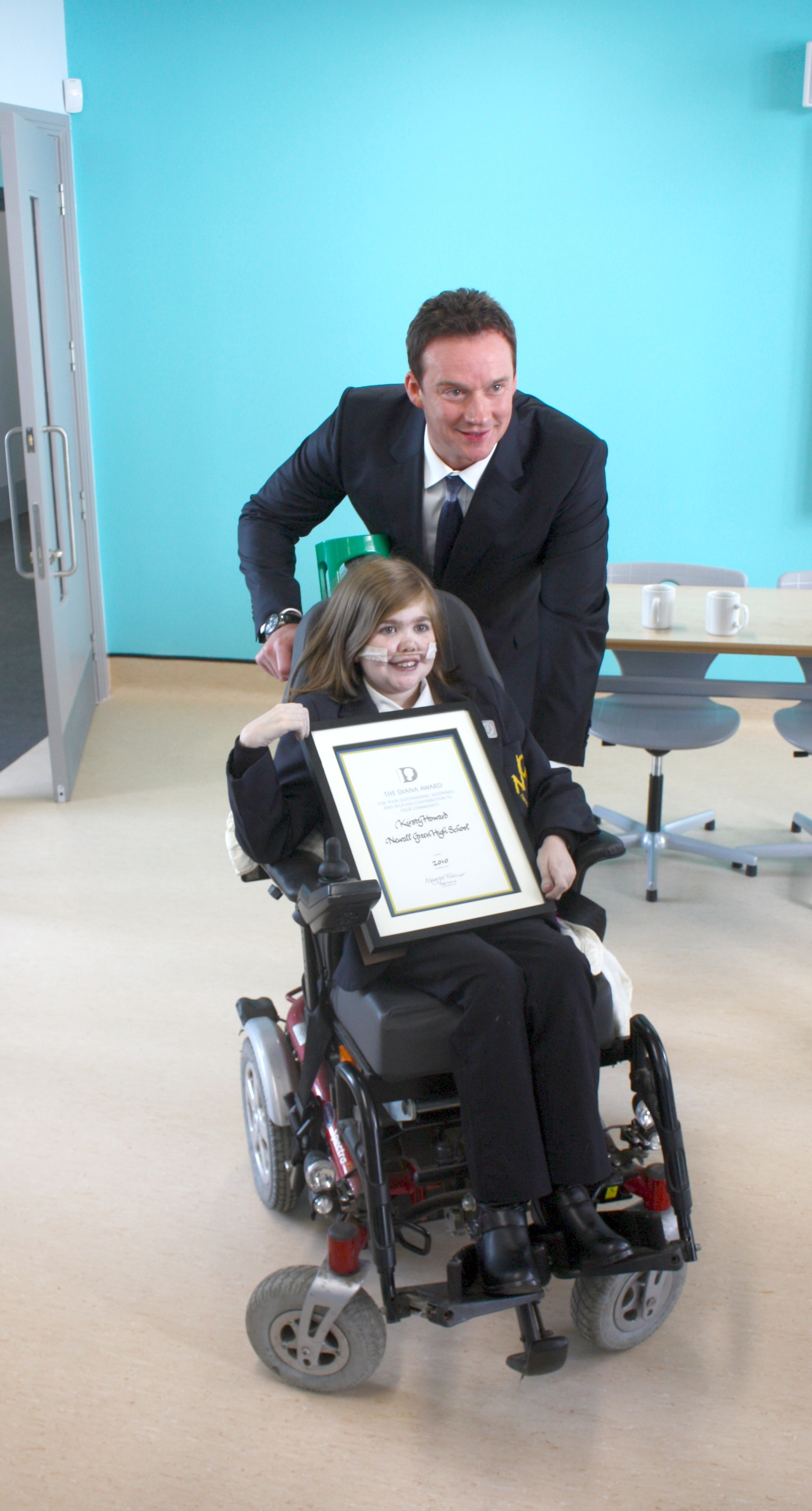 Russell Watson & Kirsty Receiving Diana Award