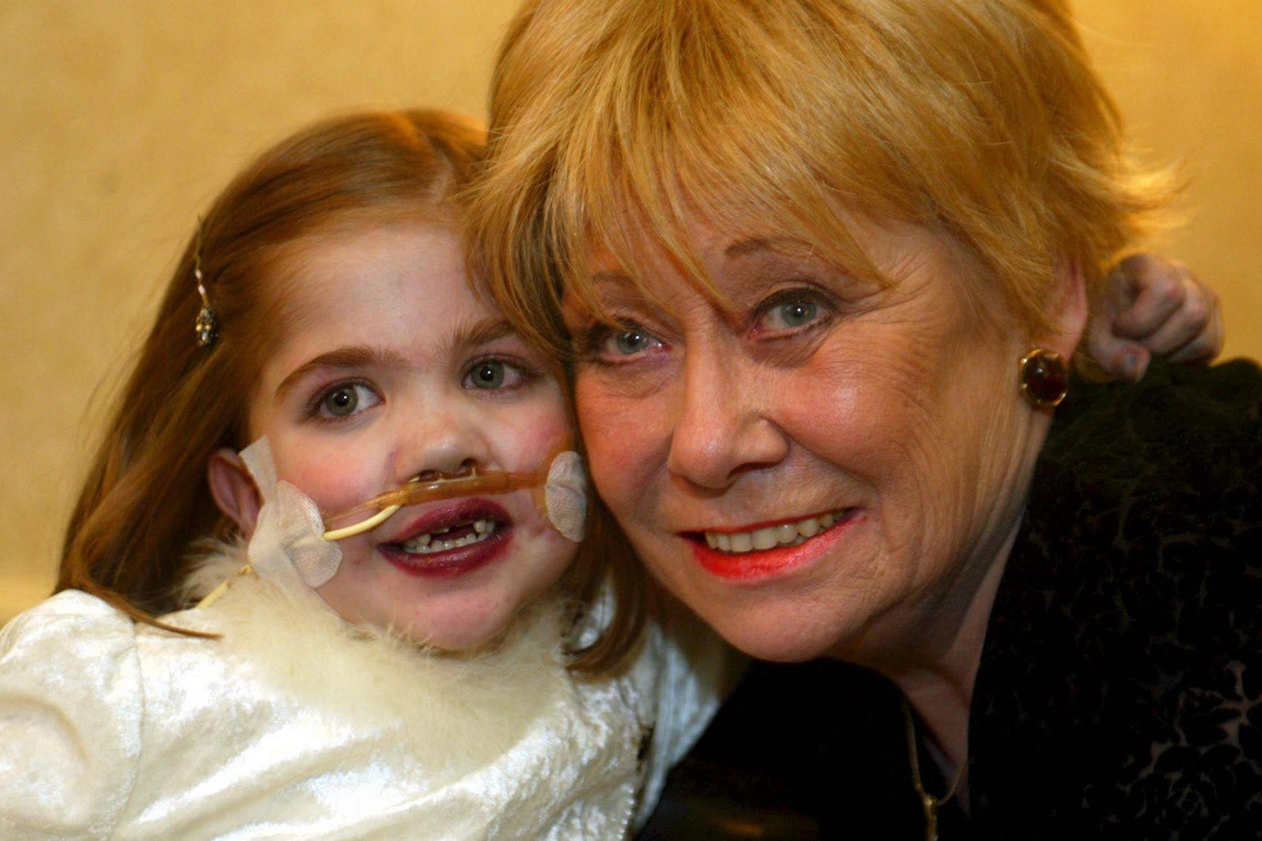 Kirsty Howard with Coronation Street's Liz Dawn