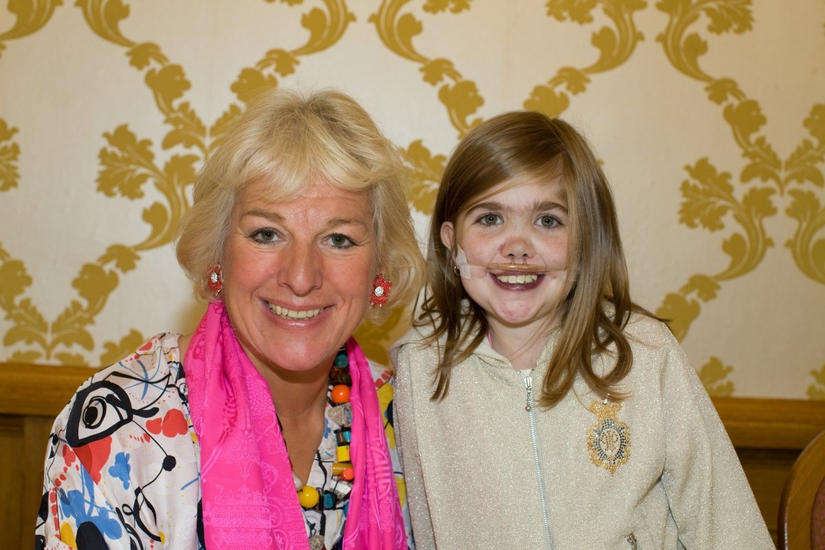 Carol Thatcher with Kirsty Howard