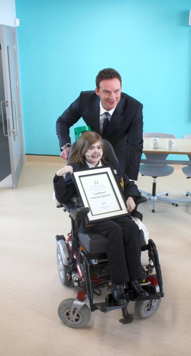Russell Watson & Kirsty Receiving Diana Award