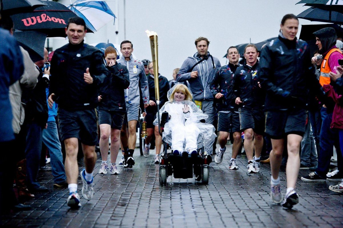 Kirsty carries Olympic Torch for 2012 Games