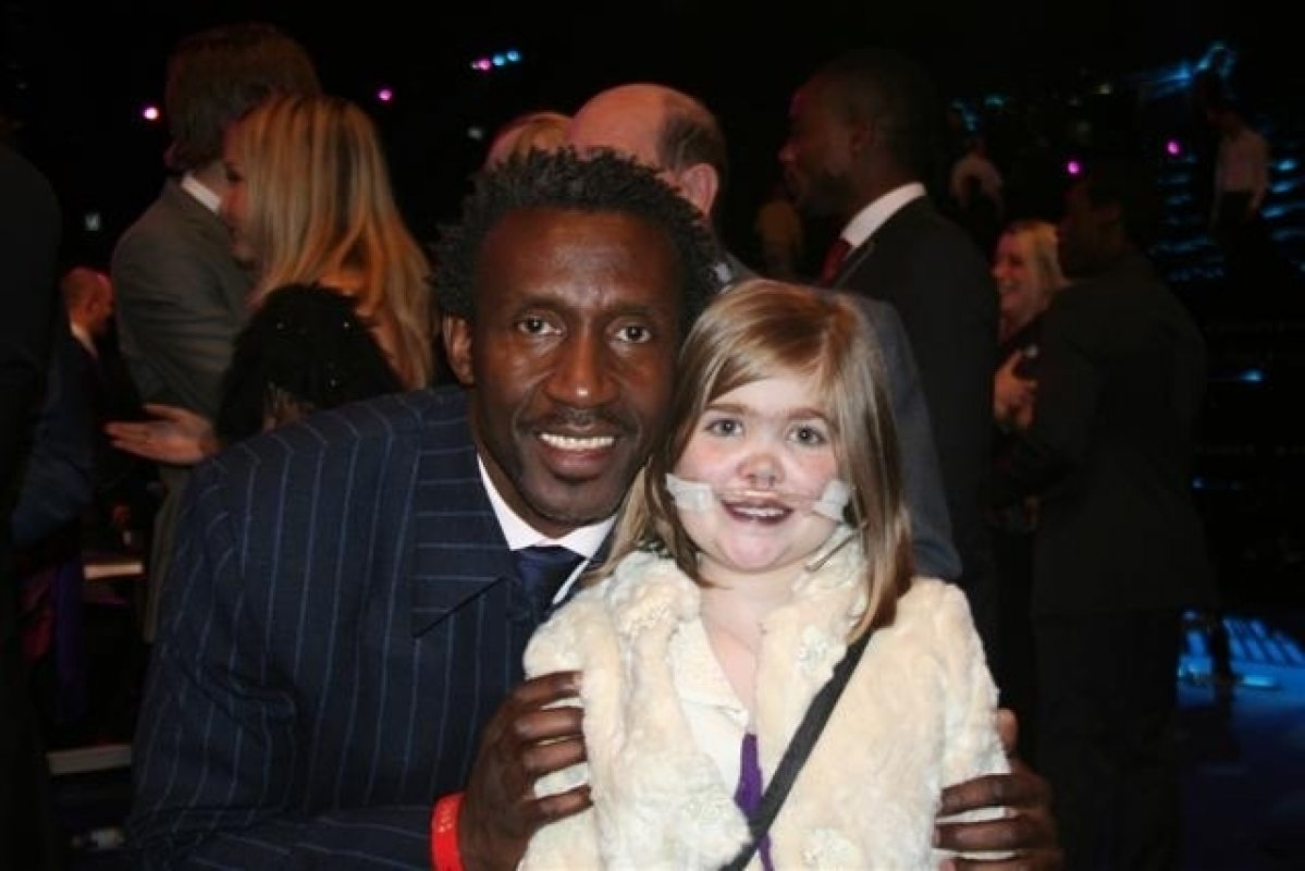 Linford Christie with Kirsty