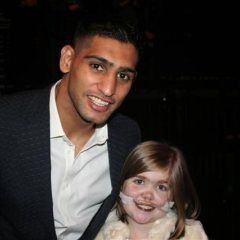 Amir Khan with Kirsty