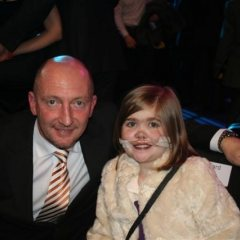Blackpool Manager Ian Hollway with Kirsty