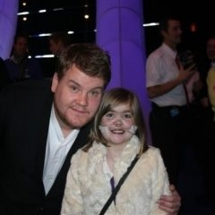 James Corden with Kirsty Howard