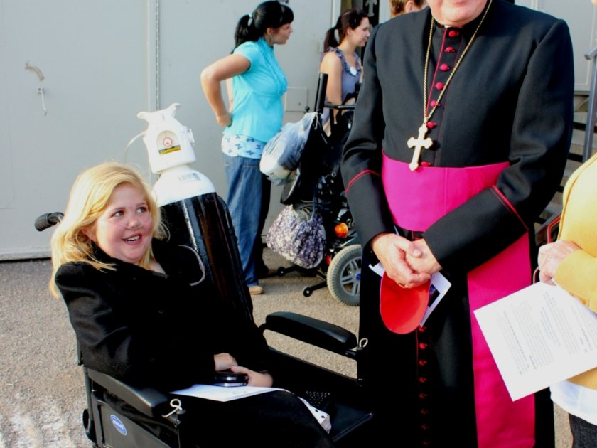 Archbishop Blesses Site for New Hospice Building